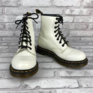 Dr. Martens Luana Combat Boots White Size 7